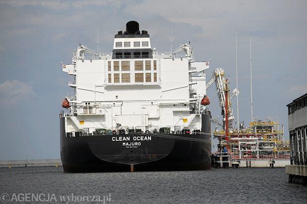 Czerwiec 2017, pierwsza dostawa LNG z USA do Polski - gazowiec Clean Ocean