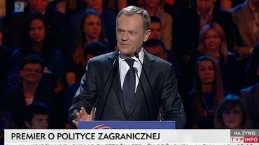 Donald Tusk na konwencji w Sopocie