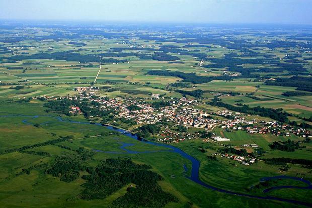 Dolina Biebrzy, widok na Goniądz z lotu ptaka / fot. Shutterstock