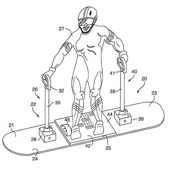Snowboardowy skuter
