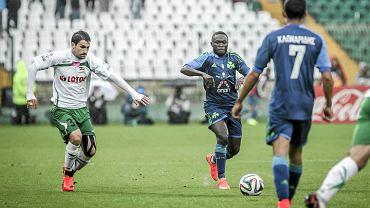 Lechia - Panathinaikos 4:0. Z lewej Nikola Leković
