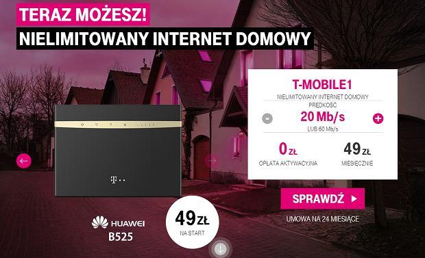 Nielimitowany internet domowy - oferta T-Mobile