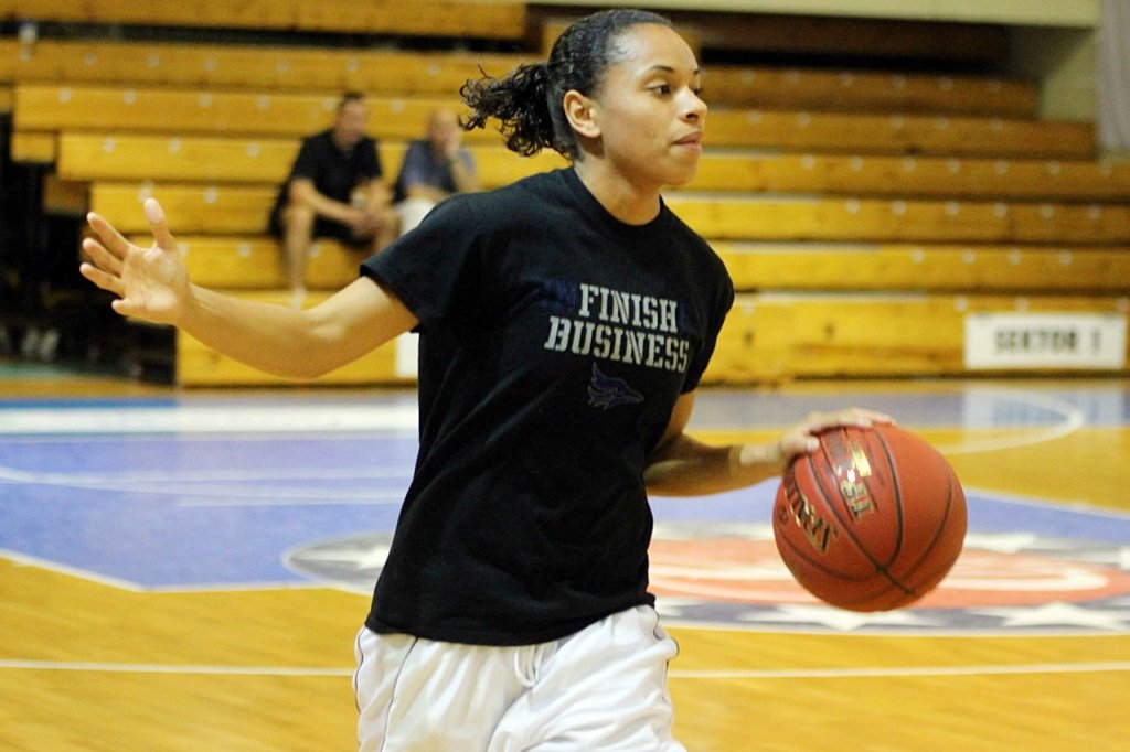 Amerykanka Angel Goodrich w czwartek pierwszy raz trenowała z zespołem KSSSE AZS PWSZ Gorzów