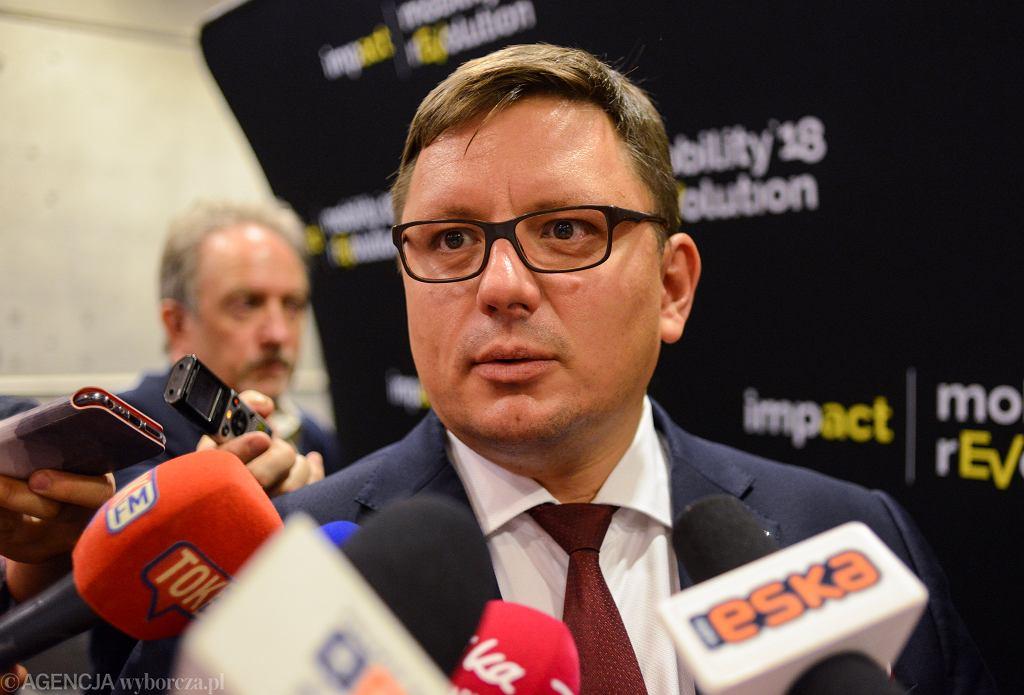 Prezes zarządu Polskich Linii Lotniczych ' LOT ' Rafał Milczarski