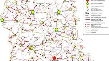 Szerokopasmowe Lubuskie - mapa