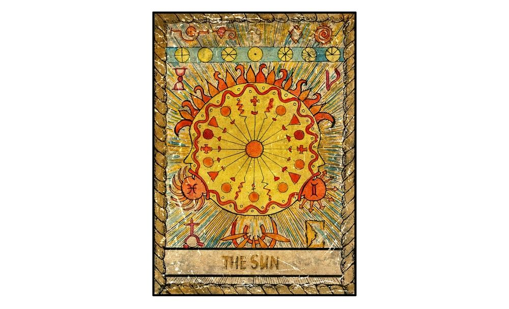 Karta tarota - 19 słońce