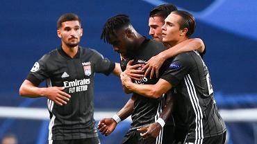 Maxwel Cornet po golu na 1:0 w meczu Ligi Mistrzów