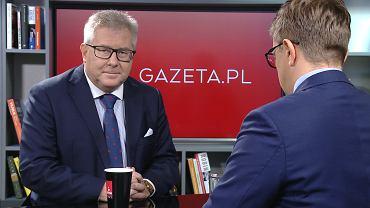 Ryszard Czarnecki z porannej rozmowie Gazeta.pl