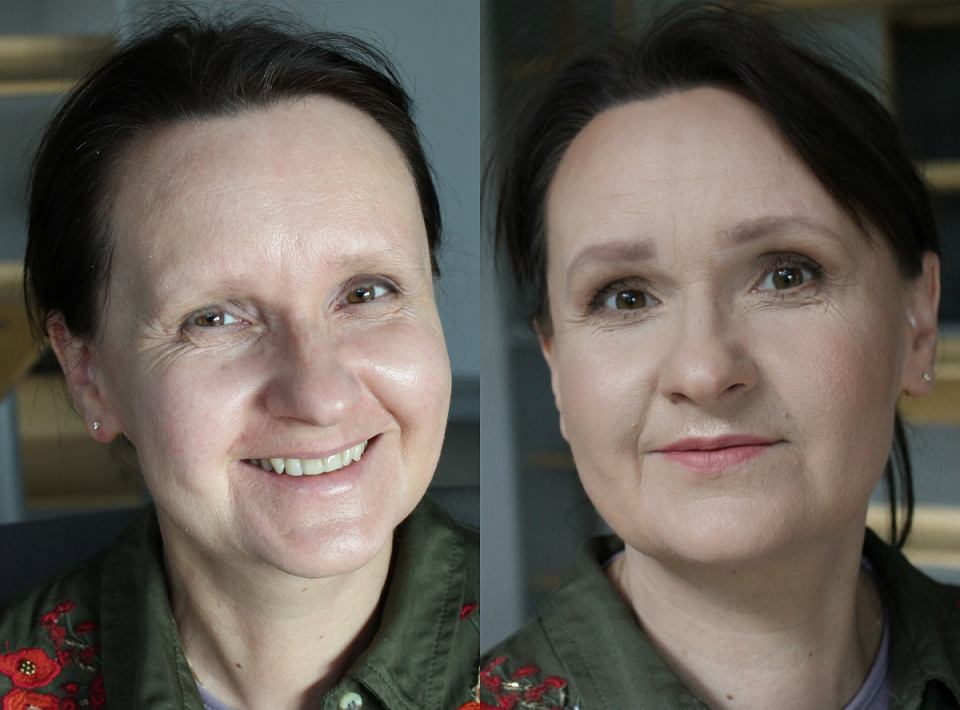 Codzienny makijaż - przed i po