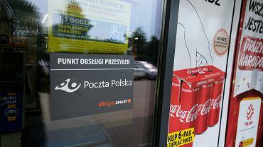 Sklep Biedronki przy ul. Skoroszewskiej 5B, w którym testowo uruchomiono usługę pocztową, w związku z czym sklep jest czynny także w niedziele niehandlowe
