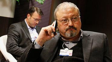 Zamordowany przez Saudyjczyków dziennikarz Dżamal Chaszodżdżi. Na zdjęciu - podczas World Economic Forum, Davos, Szwajcaria, 29 stycznia 2011