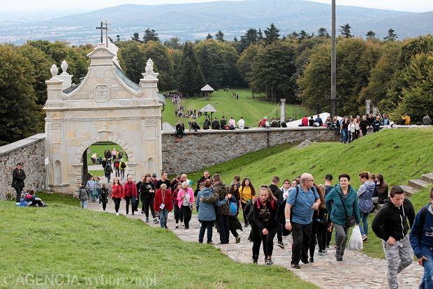 Zdjęcie numer 0 w galerii - Pogoda dopisała, turyści-pielgrzymi też. Ponad 3,5 tys. pieszych i rowerzystów na Świętym Krzyżu [ZDJĘCIA]