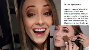 Makijaż wykonany jedzeniem