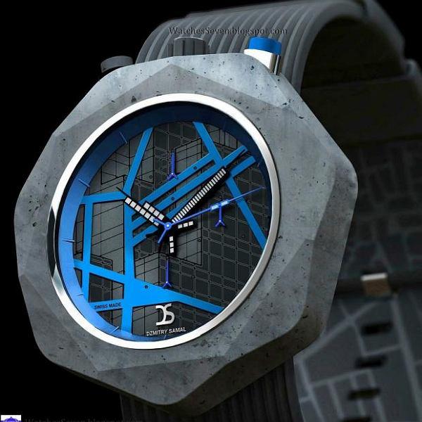 Zegarek z betonu