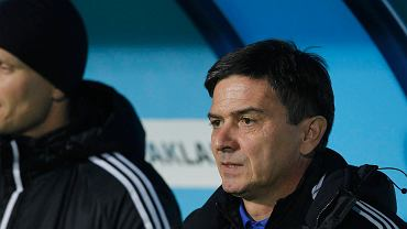 Waldemar Fornalik na meczu Ruch - Korona Kielce 0:1