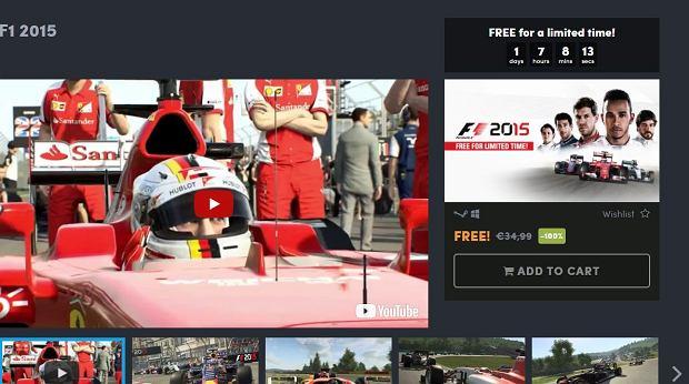 Gra F1 2015 dostępna za darmo