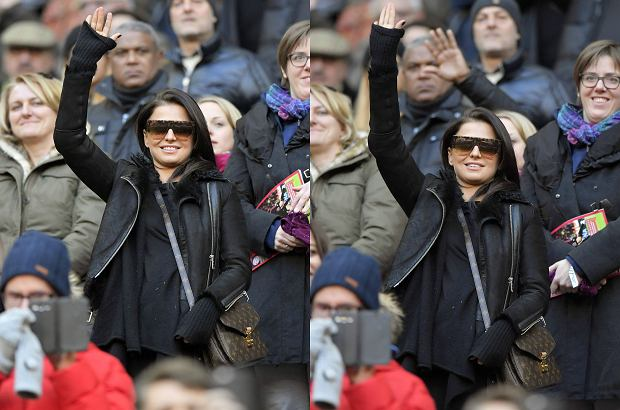 Zdjęcie numer 5 w galerii - Anna Lewandowska w ciąży na meczu Bayernu. Ubiór miał maskować kształty. Nie do końca się udało [ZDJĘCIA]
