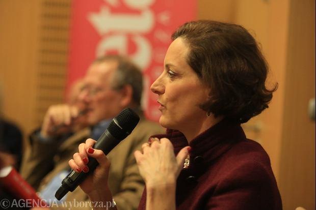 Anne Applebaum podczas spotkania w warszawskiej siedzibie
