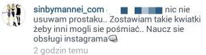 Zrzut z Instagram Sara Mannei