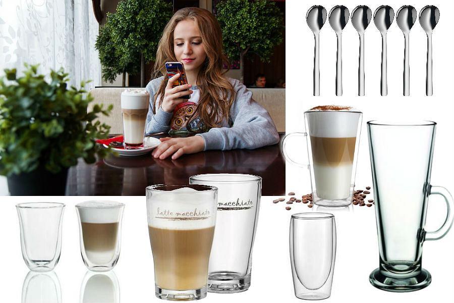 Szklanki idealne do podania latte
