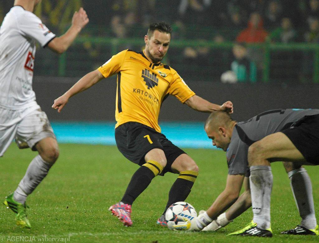 Grzegorz Goncerz w meczu GKS Katowice - GKS Tychy