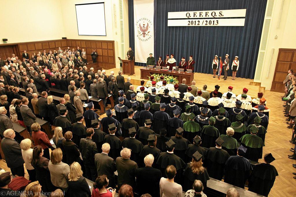 Uniwersytet Warszawski, Collegium Maximum. Inauguracja roku akademickiego.