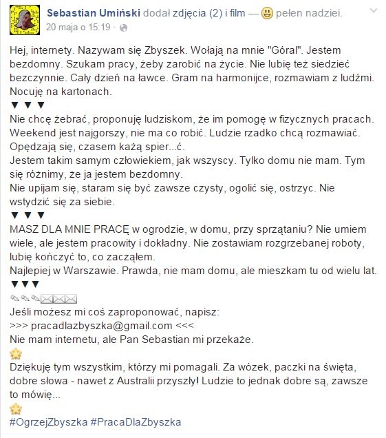 apel pana Zbyszka