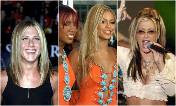Jennifer Aniston, Kelly Rowland, Beyonce, Anastasia