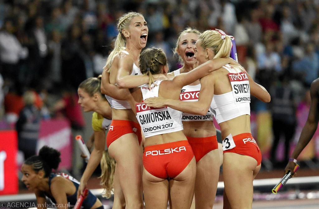 Brązowa polska sztafeta 4x400 m na mistrzostwach świata w Londynie