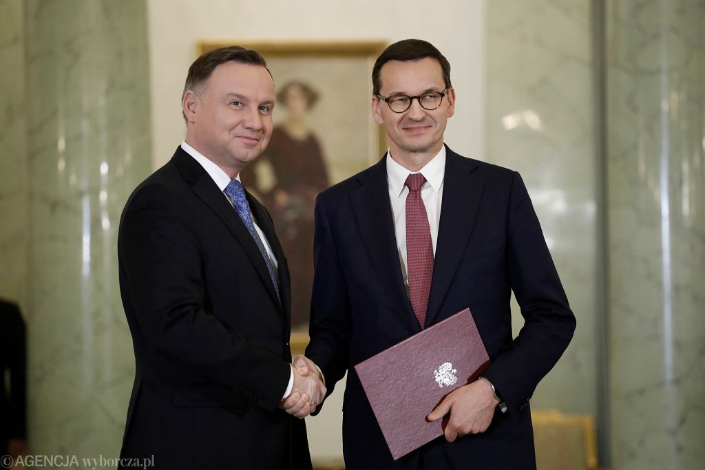12.11.2019, Pałac Prezydencki, uroczystość przyjęcia dymisji rządu Mateusza Morawieckiego.