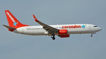 Samolot linii czarterowej Corendon Airlines, która będzie latała z lotniska Poznań-Ławica