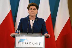 Beata Szydło ogłasza program Mieszkanie Plus