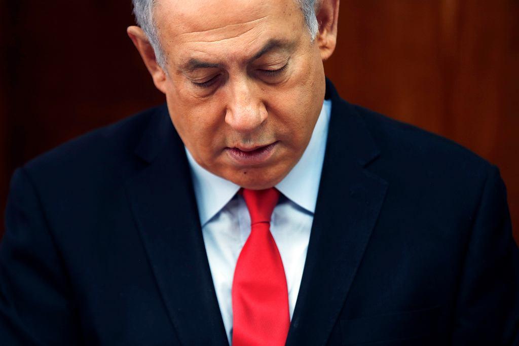 Izrael: Rząd musi powstać do północy. Koniec ery Netanjahu czy kolejne wybory? Na zdjęciu: premier Benjamin Netanyahu podczas posiedzenia gabinetu. jerozolima, 13 listopada 2019