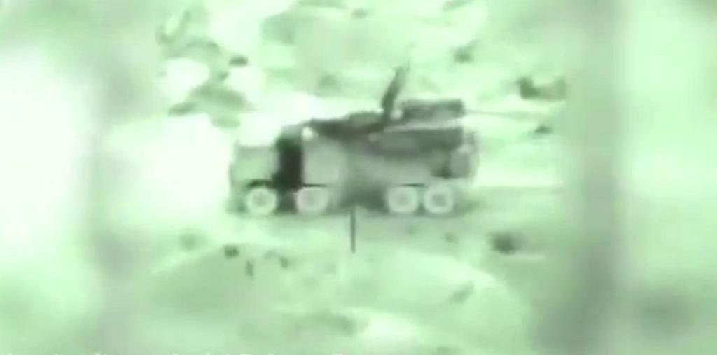 System Pancyr-S1 tuż przed trafieniem przez Izraelczyków