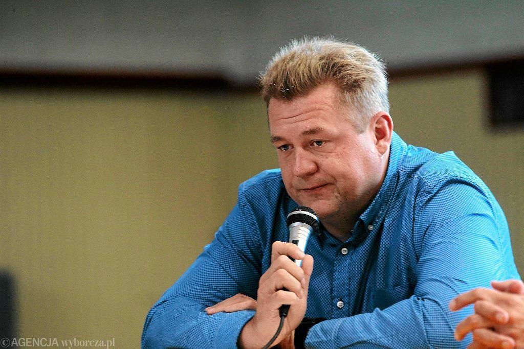 Prezes Skry Warszawa Krzysztof Kaliszewski, trener Anity Włodarczyk
