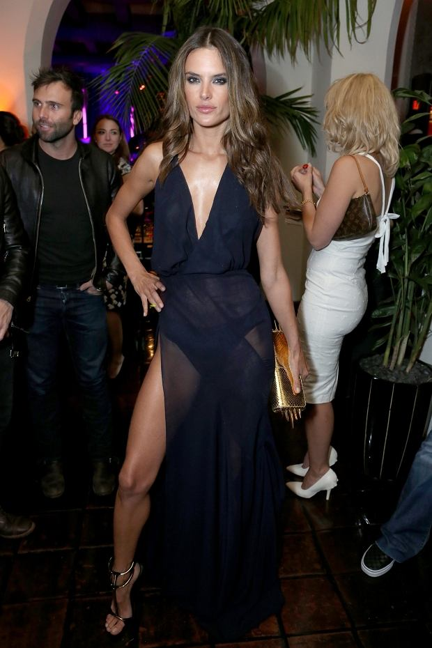 Alessandra Ambrosio, afterparty po Grammy
