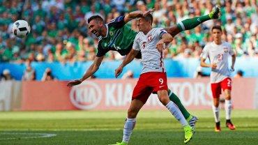 Robert Lewandowski w meczu z Irlandią Północną