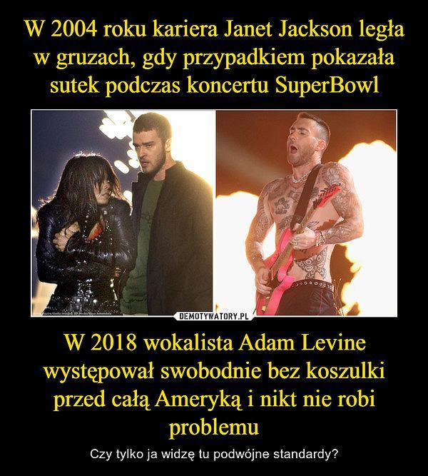 Super Bowl Janet Jackson Adam Levine