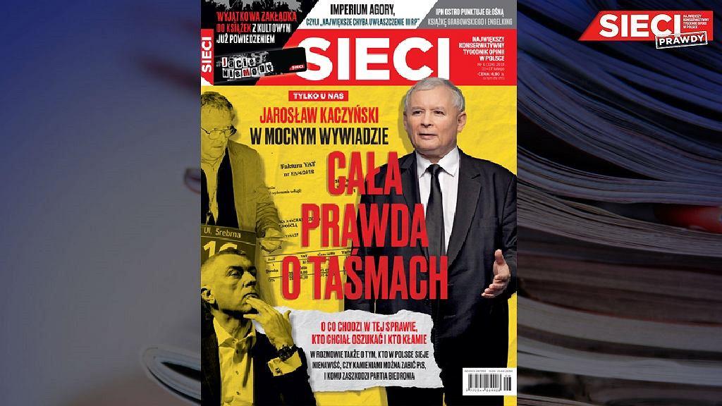Okładka tygodnika 'Sieci'