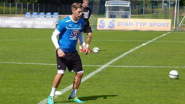 Barry Douglas na treningu Lecha Poznań