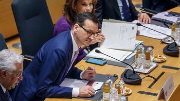 Premier rządu PiS Mateusz Morawiecki podczas szczytu w Brukseli, 12 grudnia 2019