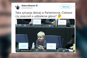 """Dziecko przechwyciło mikrofon w Parlamencie Europejskim. """"Ciekawe, czy poprosił o udzielenie głosu?"""""""
