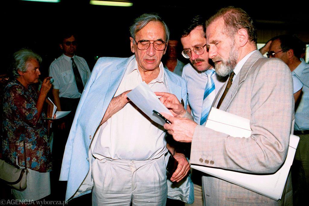 Mazowiecki, Komorowski, Geremek. Zjazd Unii Wolności, czerwiec 1994