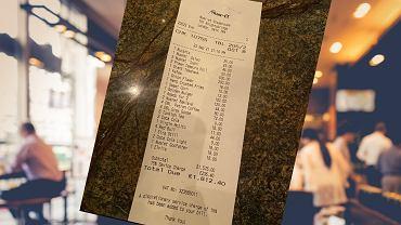Zapłacił ponad 9 tys. zł w restauracji. Za co? To dopiero jest paragon grozy (zdjęcie ilustracyjne)