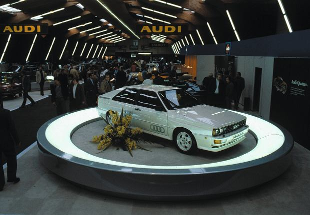 Audi Quattro w Genewie 1980 r.