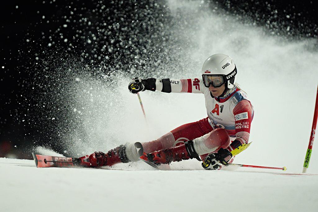 26 listopada 2020. Maryna Gąsienica-Daniel w slalomie równoległym Pucharu Świata w Lech (Austria). Zajęła tam najlepsze miejsce w karierze - była dziewiąta