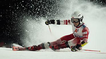 26 listopada 2020. Maryna Gąsienica-Daniel w slalomie równoległym Pucharu Świata w Lech (Austria)