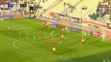 Gol Rakoczego w meczu Cracovia - Warta (1:0)