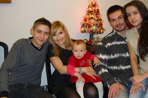 Katarzyna Skrzynecka z rodziną