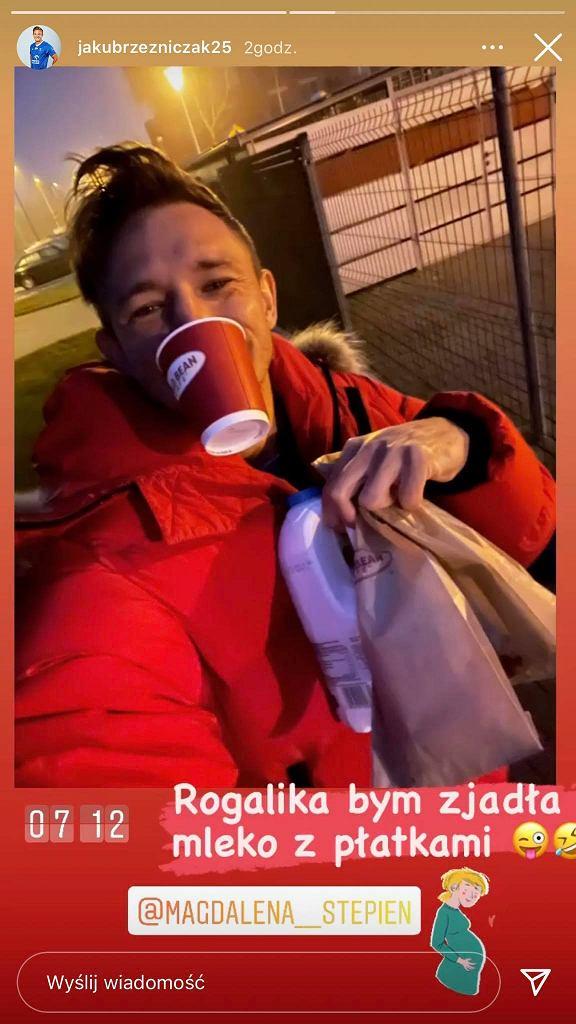 Jakub Rzeźniczak spełnia ciążowe zachcianki Magdaleny Stępień